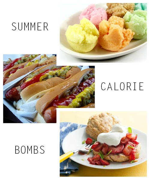 summer calorie bombs